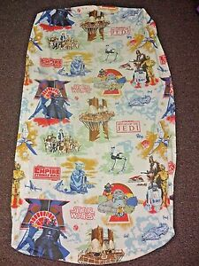 VTG-1983-STAR-WARS-RETURN-OF-THE-JEDI-FITTED-SHEET-TWIN-Yoda-Darth-Vader