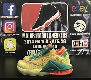 reputable site 2fd71 7fc50 Details about Nike Lebron 12 Low Lebronold Palm Tree size 8