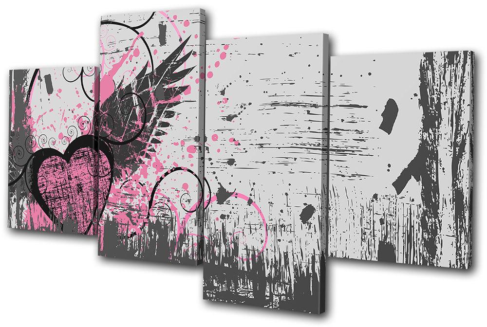 Love Abstract Grunge Vector MULTI TELA parete parete parete arte foto stampa 9e095e