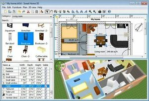 sweet home 3d interior home design cad software suite home architect