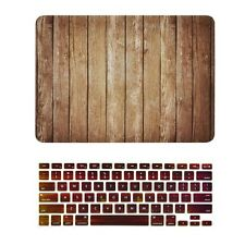 "Brown Wood Texture Case + Keyboard Cover for MacBook Air 13"" Model A1369 & A1466"