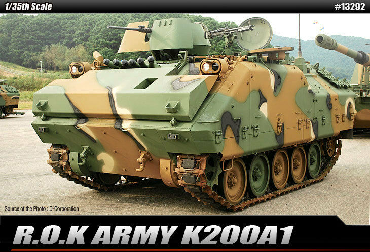 1 35 R.O.K ARMY K200A1 ACADEMY HOBBY MODEL KITS