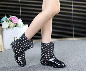 Low heel womens rainshoes new style girls rainboots fashion jelly ankle galoshes