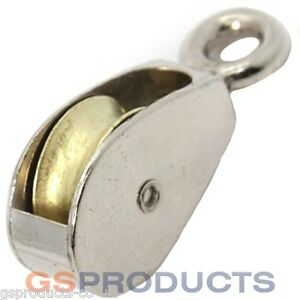 50mm Zinc Plated Die Cast Steel Single Awning Pulley Free P P Ebay