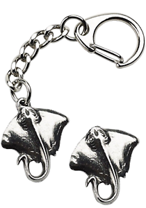 Stingray-Key-ring-And-Pin-Badge-Boxed-Gift-Set-Handcrafted-In-Pewter