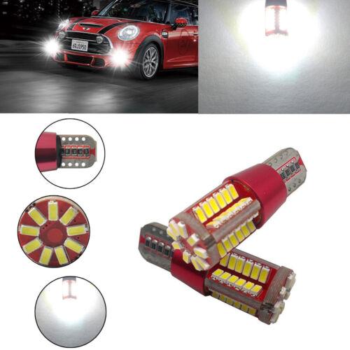 2Pcs T10 501 194 W5W 3014 LED 57-SMD Car Canbus Error Free Wedge Light Bulb Lamp