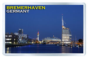 BREMERHAVEN GERMANY MOD2 FRIDGE MAGNET SOUVENIR IMAN NEVERA