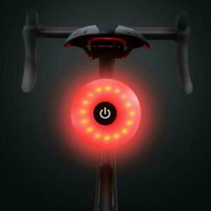 LED Bicycle Warning Safety Smart Lamp Rechargeable Bike Rear Tail Light USB New