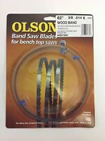 Olson Band Saw Blade 62 X 3/8, 6 Tpi For Craftsman 21419, Skil 3104 & Grizzly