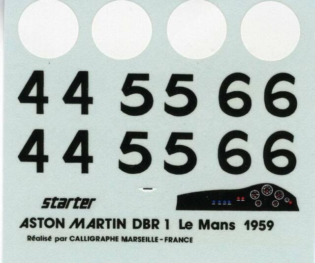 ASTON MARTIN DBR1 N° 4/5/6LE MANS 1959  STARTER  DECALS 1/43