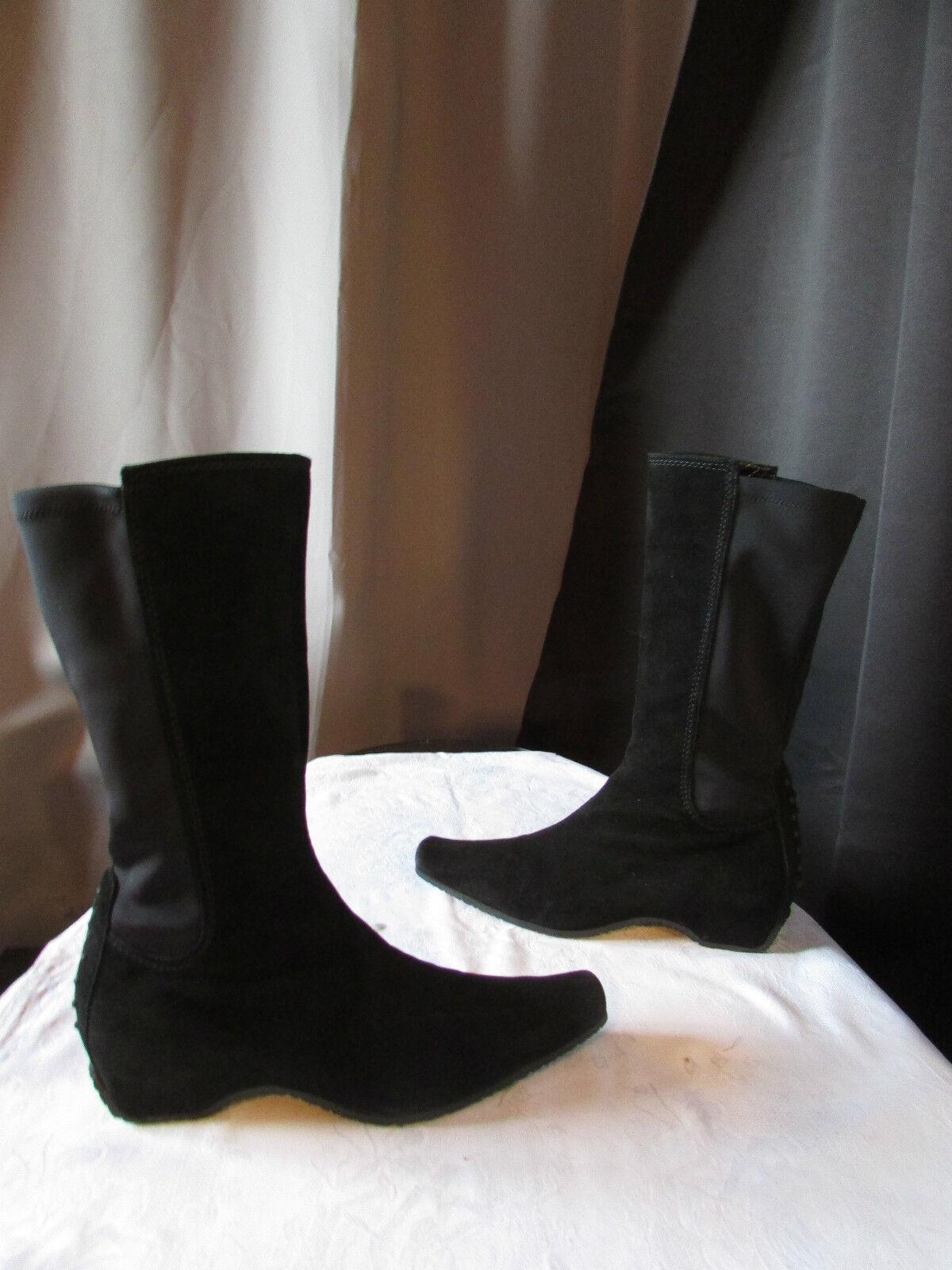 Bottes to bé daim black et matière élastique  blacke 38