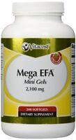 Vitacost Mega Efa Mini Gel Omega-3 Epa & Dha Fish Oil -- 2100 Mg - 240 Softgels