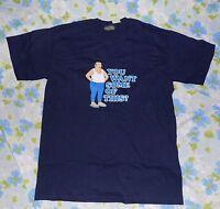 Athf Aqua Teen Hunger Force Carl Men's T-shirt Sz M Navy Blue