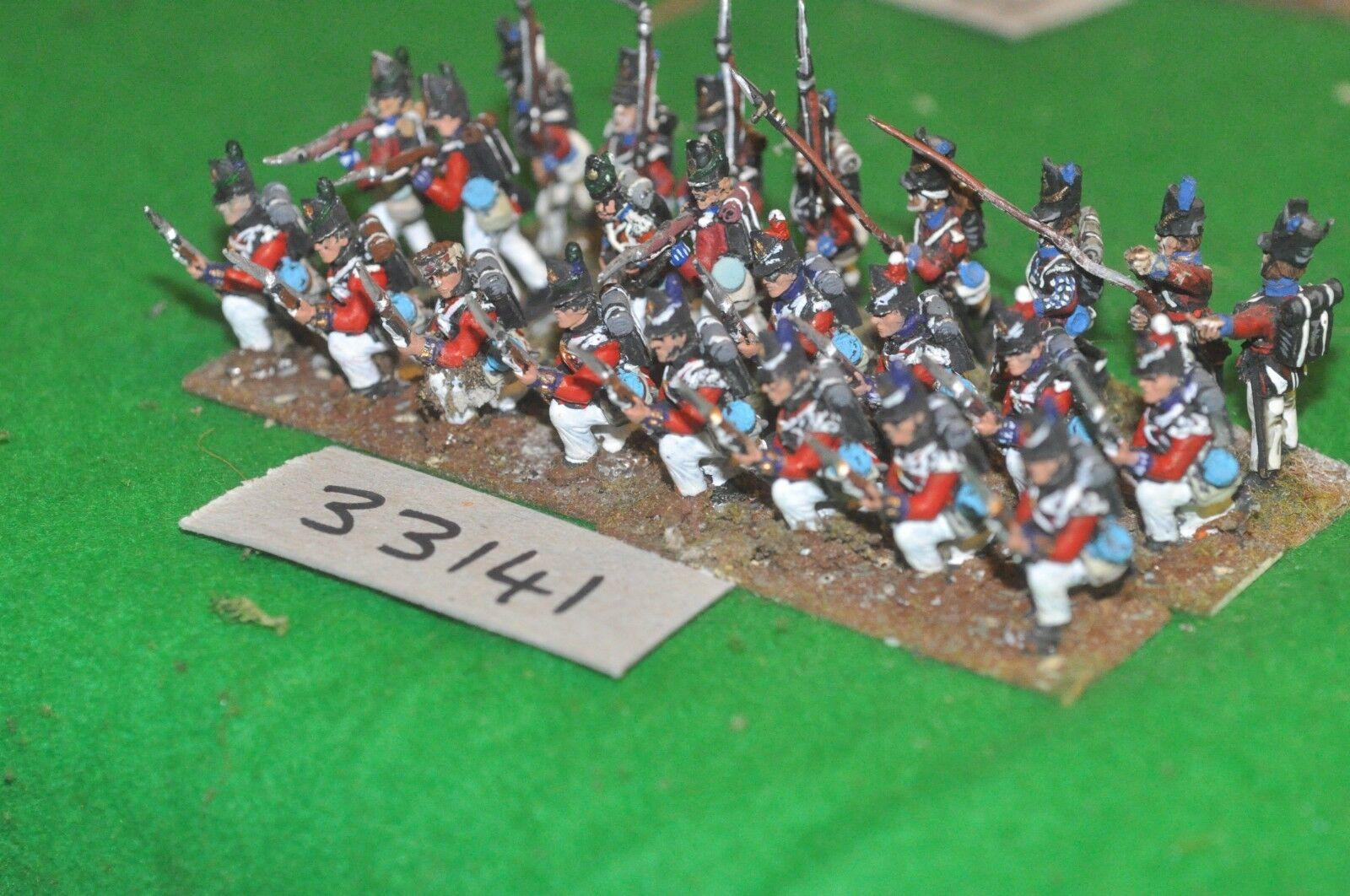 25mm napoleónicas británico Regt 24 figuras-INF (33141)
