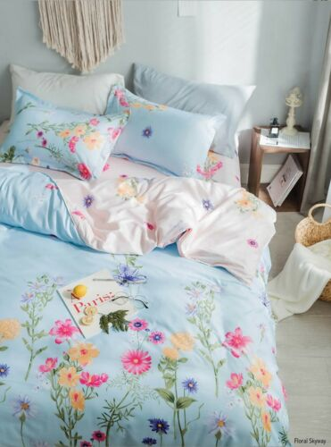 Ultra Soft Premium Microfiber Reversible Duvet Quilt Cover With Pillow Cases Bed