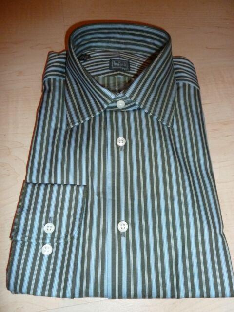 NEW $190 IKE BEHAR MENS SHIRT Sz 15.5 34 35 NWT 100/% Cotton Stripe White BC