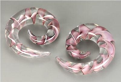 """8g 5//8/"""" Pyrex Glass RIBBON SPIRAL Price Per 1"""