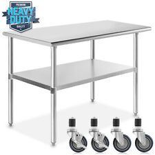 Stainless Steel 24 X 48 Nsf Commercial Kitchen Work Food Prep Table With Casters
