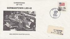 USS GERMANTOWN LSD-42 CHRISTENING NAVAL TOPICAL SHIP COVER MILITARY