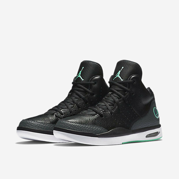 819472-004 Air Jordan Flight Tradition Blk Turquoise-Anthracite Sz 8-12 NIB