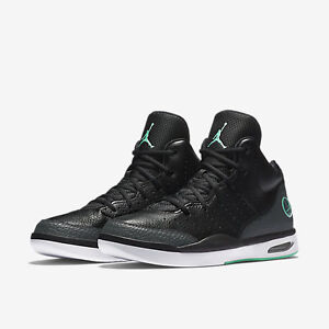 the best attitude 100a9 a5803 Image is loading 819472-004-Air-Jordan-Flight-Tradition-Blk-Turquoise-