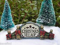 Miniature Dollhouse Fairy Garden Victorian Village Christmas Sign