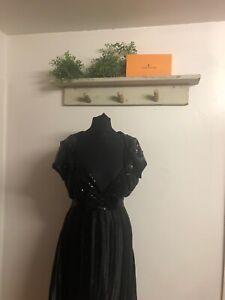 Pailletten-Kleid-16-mit-Pailletten-Bolero-Party-Weihnachten-Cruise-Plissiert-elegant