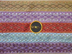 2-Metres-Vintage-Style-Cotton-Crochet-Lace-Edge-Trim-Ribbon-Sewing-Crafts-5cm-Wd