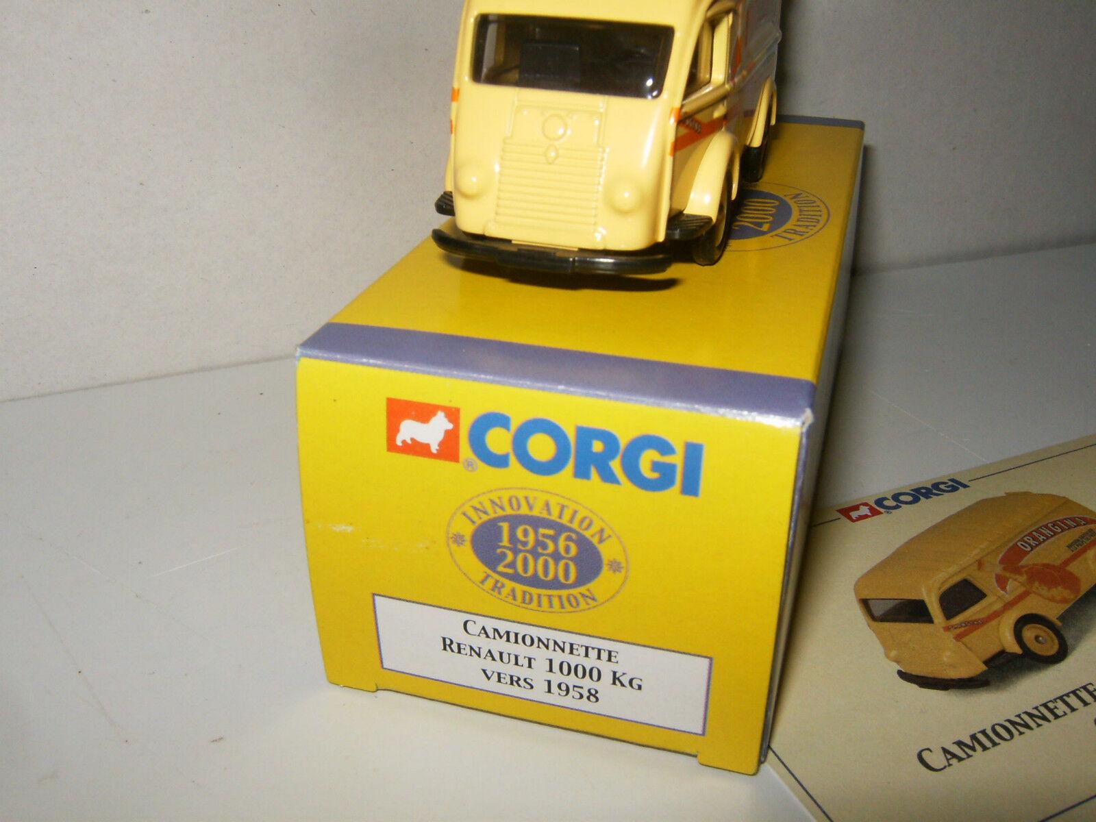 RENAULT 1000 KG 1958 1958 1958 ORANGINA par CORGI au 1 55 avec BOITE 089f79
