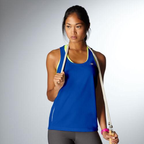 New Balance Ladies XS-2XL TEMPO Running Singlet Tank Top T-Shirt Gym dri fit Tee