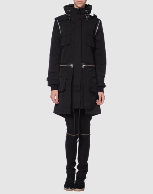 Navy Parker Coat Hood Adidas Parka 2xs Fo Slvr Jacket Trench Womens Fishtail H9IWED2