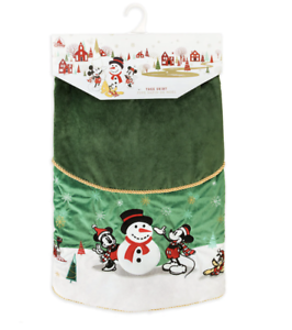 Disney-Tienda-Mickey-y-Amigos-Vacaciones-Navidad-Arbol-Falda-Nuevo-con-Etiquetas
