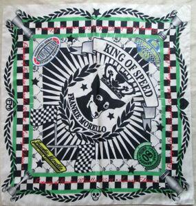 -superbe Foulard Frankie Morello Soie Tbeg Vintage Scarf 82 X 88 Cm Peut êTre à Plusieurs Reprises Replié.