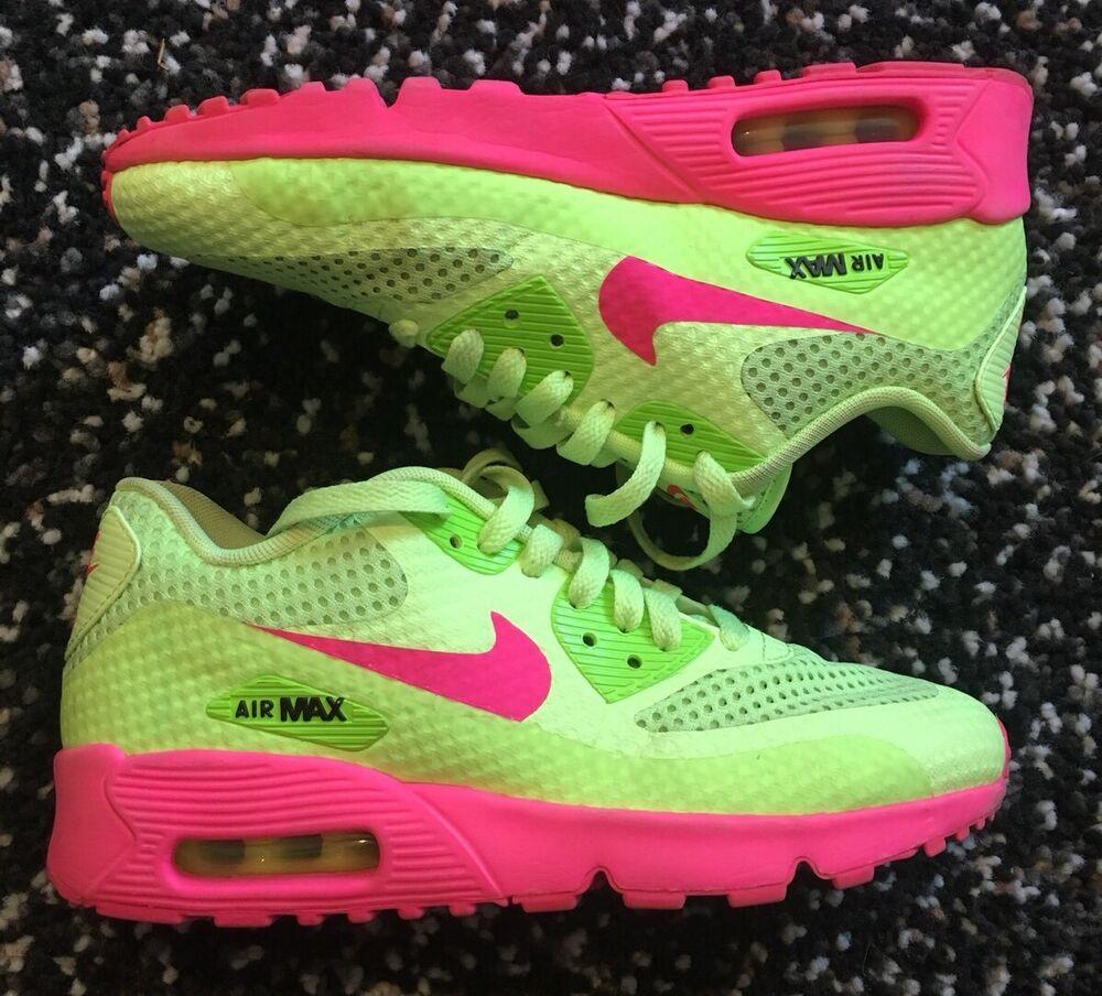 outlet store 4cfec f2739 Air Filles De Chaussures Course Max Rose Breeze Vert Br Gs Nike 90 zSPdzq