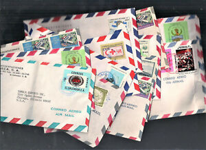 13 El Salvador Commercial Covers 1950-1979 To Chicago As Per Scan (AP13)