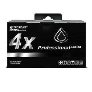 4x Eurotone Pro Ink Black For Epson Stylus Photo R-285 PX-730-WD PX-660
