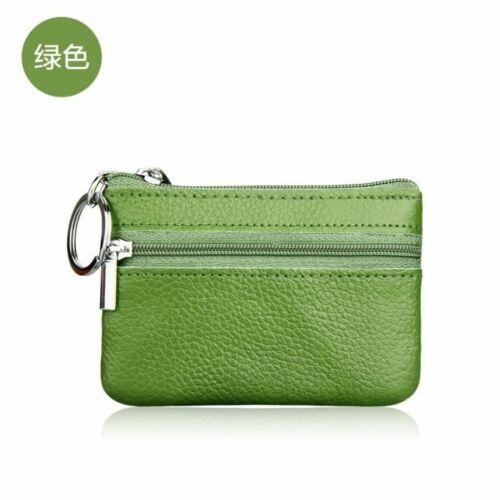 Genuine Leather Car Key Holder Casual Women Fashion Keyring Coin Purse Wallet