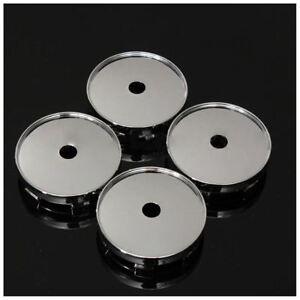 Z5A5-conjunto-de-4-Tapacubos-centro-de-rueda-Cromo-Universal-Coche-Plastico-60-mm-Adornos-De