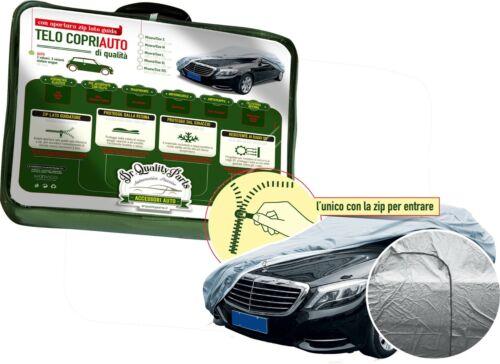 Cotone con Zip Apertura Porta Fiat 500X 500 X Telo Copriauto Felpato in Peva