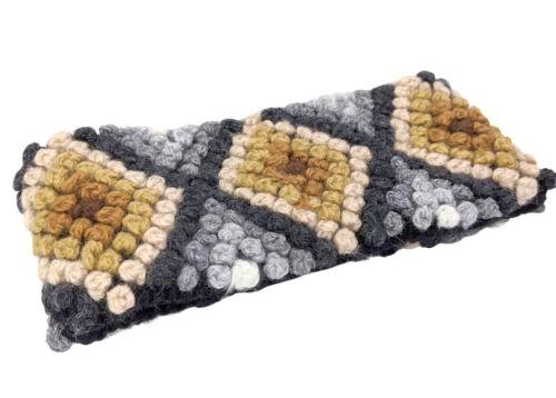 Handmade alpaca wool headband knit winter ear-warmer