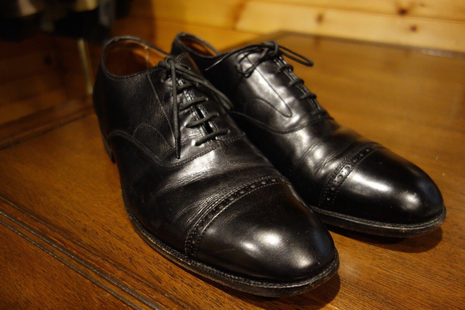 Alden Stunning Black Cap Toe Oxford Dress shoes 10 A C USA