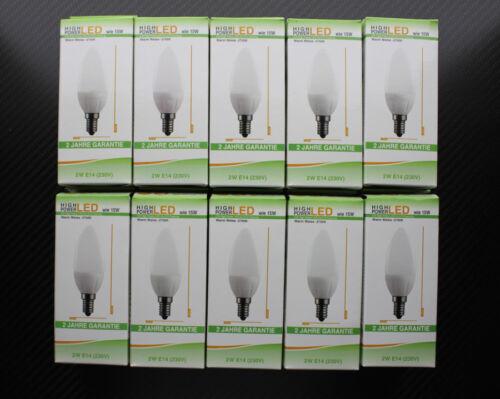 10er Set SKC LED Profi Kerze E14 230V 2W 140 Lm 2700K
