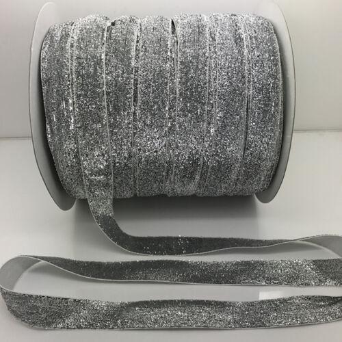 """Wholesale 3//5//10//20//50 yds 3//4 /""""20mm Sparkle Glitter Velvet Ribbon Headband Pick"""