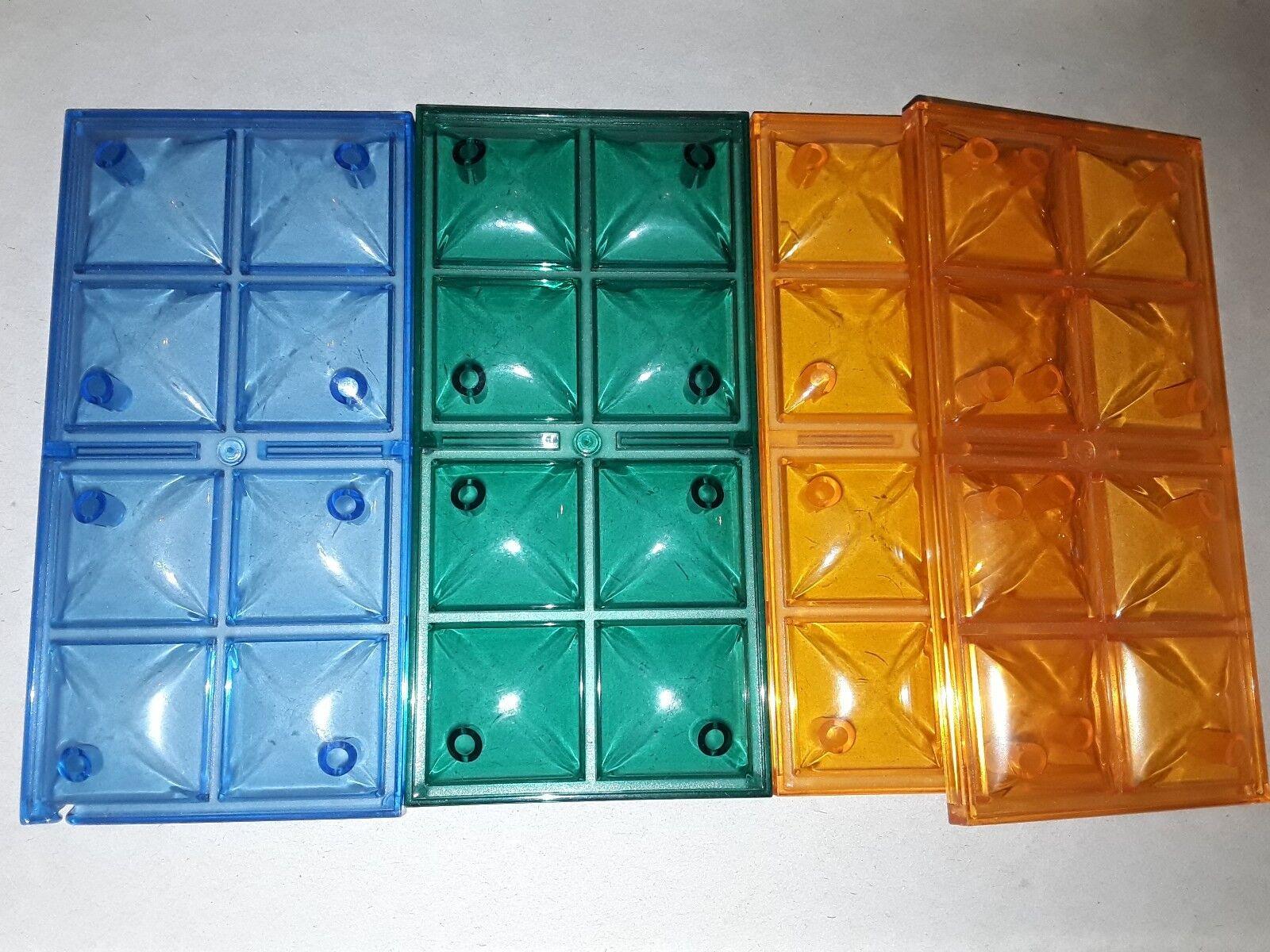 Majokit - lot de  4 toîts  transparents ( blue green orange)