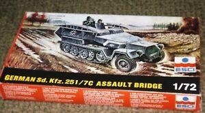 ESCI  1:72 8066 * GERMAN Sd 251//7C  ASSAULT BRIDGE * NEUF S//CELLO Kfz SEALED!