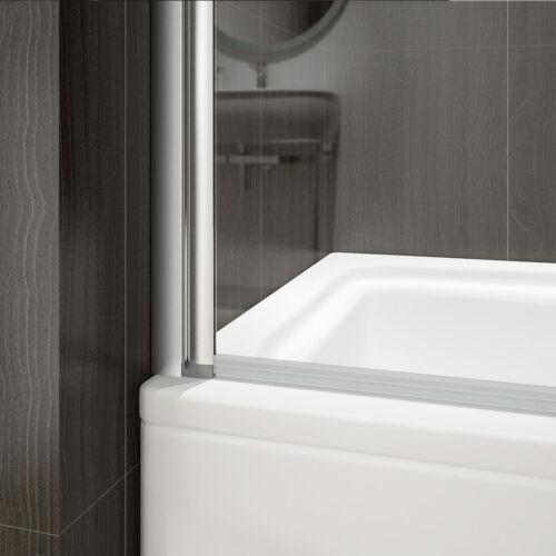 Duschabtrennung Badewannenaufsatz mit seitenwand Badewannenfaltwand Dusche NANO