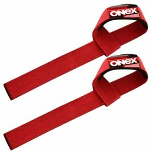 Support-Weight-Lifting-Training-Red-Hand-Wrist-Straps-Exercise-Fitness-Gym-Wraps