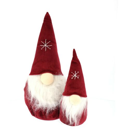 Pair of Christmas Gnome Gonks Weighted Choice of Colour Red//Green//Blue