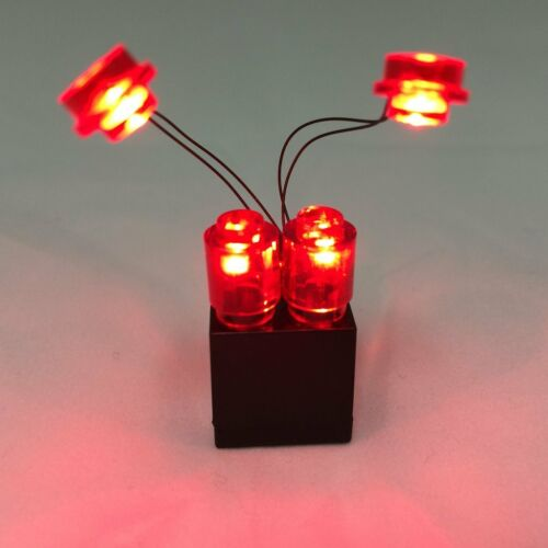 LED LEGO Iron Man Lights Red With 2X3 Battery brick