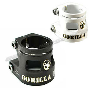 Gorilla-Park-Double-Seatpost-Clamp-27-2mm-31-6mm-Black-White